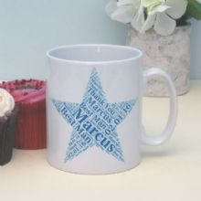 Best Man Personalised Star Mug - Ideal Wedding Keepsake For The Best Man